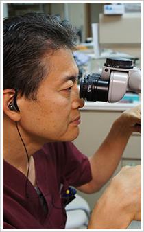 マイクロスコープを使用した精度の高い治療